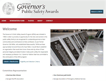 Tablet Preview of georgiagovernorspublicsafetyawards.org